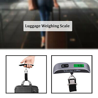 Portable 50kg Hanging Electronic Digital Luggage Suitcase Scale Travel Weighing