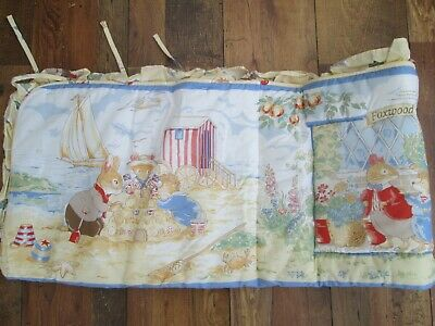 Beautiful Vintage Zorbit 1996 Foxwood Tales Baby Cot Bumper Excellent Condition