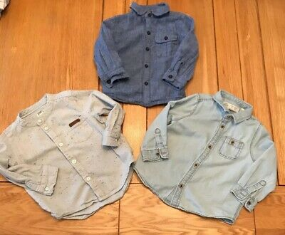RIVER iSLAND ZARA And NEXT Boys Shirt Bundle Age 12-18 Months