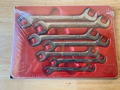 NEW...SEALED! Snap-on Tools 7pc Four-Way SAE Angle Head Open Wrench Set VS807B