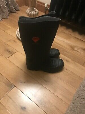 VITAL Sitemaster Black PVC Safety Wellington Boots Wellies Steel Toe Cap Size 5