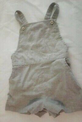 Next Baby Girl 18-24 Months Romper Dungarees Grey Spring Summer Beautiful Vgc