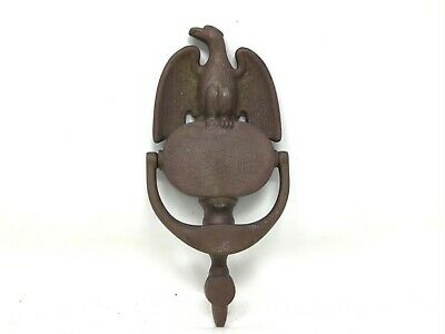 "Vintage Solid Brass American Eagle Door Knocker 1950'S Hardware 8"" Eb"