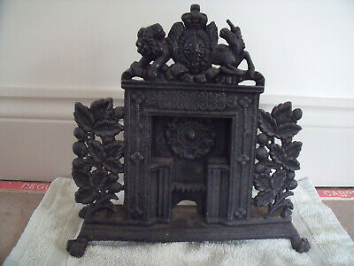 Victorian Minature Cast Iron Fireplace, Salesmans Sample