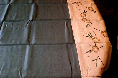 Vintage Dark Green Tablecloth Floral Border Rectangular NOS