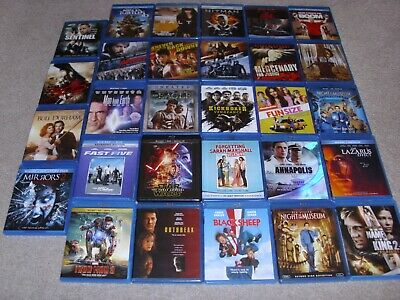 Lot Of (29) Blu Ray Movies. Good Condition.