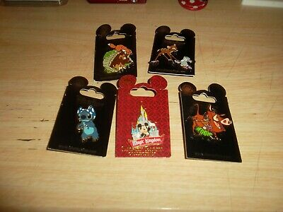Lot Of ( 5 ) Disney Parks Trading Pins - Brand New - 100% Disney Authentic.