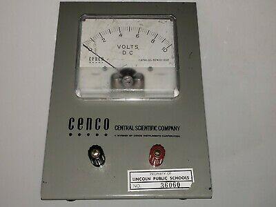Cenco D.C. Voltmeter single range 0-10V 82410-002
