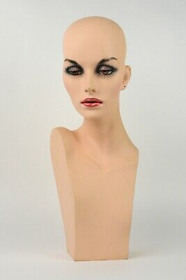 """Realistic Mannequin Head Hair Wig/Hat/Caps/Jewelry Display """"Real Eye Lashes"""""""