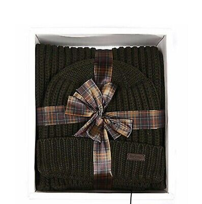 Barbour Hat And Scarf Gift Set