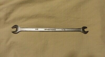 "Armstrong 27-658 USA 1/2"" X 7/16"" Thin-Flat 10"" long Open-End Tappet Wrench"