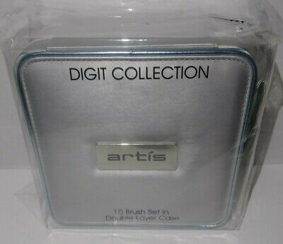 New Artis Digit Collection 10 Piece Brush Set in Double Layer Case New Sealed