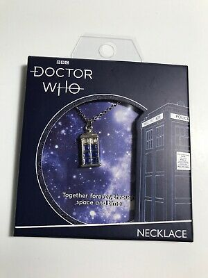 BBC Doctor Who Tardis Dainty Charm Necklace