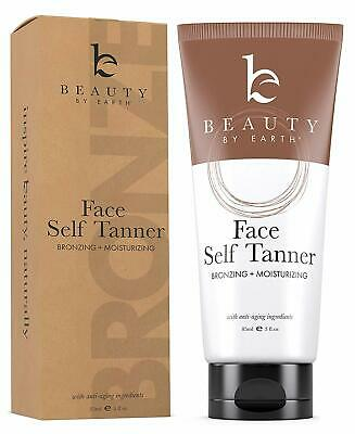 Self Tanner for Face with Organic & Natural Ingredients, Tanning Lotion, Sunless