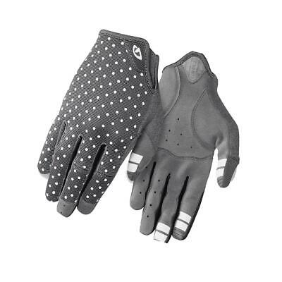 Ladies Long Finger Cycling Gloves Giro La DND Dark Shadow/White Dots