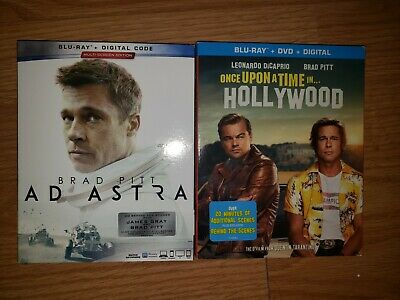 Ad Astra & Once  Upon A Time In Hollywood Blu-Ray Dvd No Digital Lot Brad Pitt
