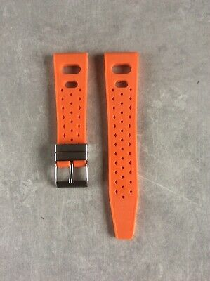 Squale Tropic Gummiband, Uhren Armband, orange 22mm