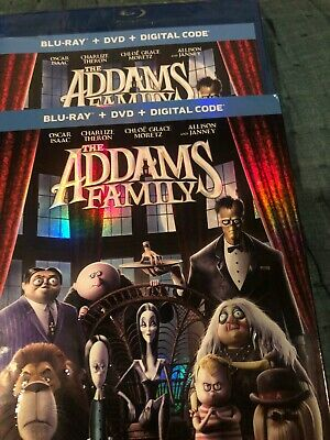 Addams Family Blu-ray & DVD + digital sealed with slipcover