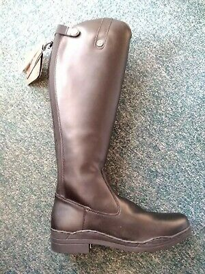 Brogini Modena Womens Long Riding Boots Uk 6.5 X Wide Black Synthetic Adult