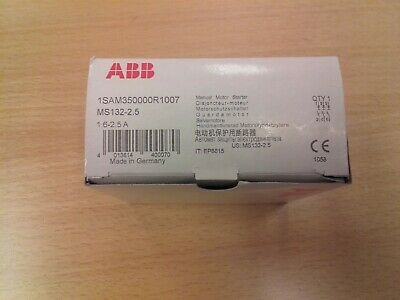 New ABB MS132-2.5 motor protection