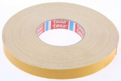 Tesa 4964-DOUBLE SIDED CLOTH TAPE 0.39mm Thick WHITE- 19mmx50m Or 25mmx50m