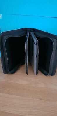 New Cd Or Dvd Black Case With Zip Holds 24 Discs