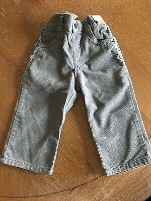 Next Boys Grey Corduroy Trousers Age 12-18 Months