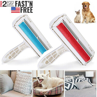 Pet Dog Cat Hair Remover Fur Roller Sofa Clothes Cleaning Brush Reusable USA