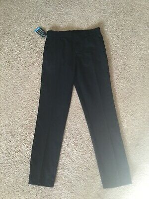 BHS Boys Black Skinny Fit School Trousers Age 12 Years.  New with tags