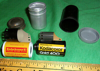 (2) Rolls Expired 35mm Film Color Kodachrome X & Gold 400 Not Used! w/Cans