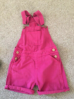 John Lewis Age 6 Short Dungarees Pink Excellent Condition