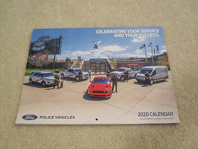Ford Police Vehicles 2020 Wall Calendar Police Sheriff State Car SUV new