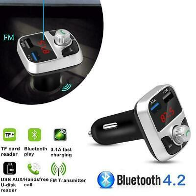 Wireless InCar Bluetooth FM Transmitter MP3 Radio Adapter Car USB Charger F V1Y6