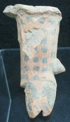 Antiquity Original Pre Columbian Leopard Spotted Pottery Foot