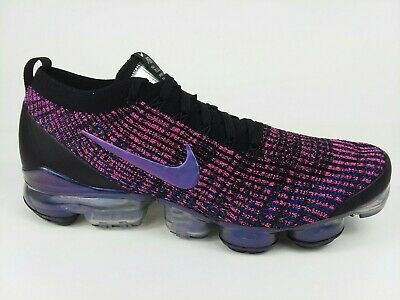 Nike Air VaporMax Flyknit 3 Shoes AJ6900-007 Black Fuchsia Men's Size 12 NEW