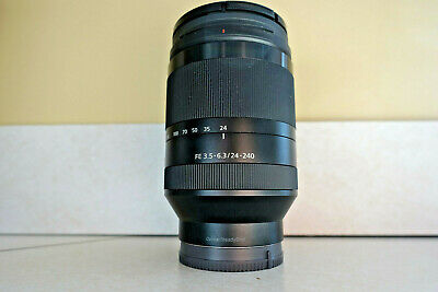 Sony SEL 24-240mm f/3.5-6.3 IF AF OSS Lens with UV filter.