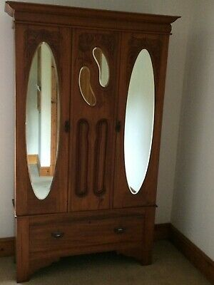 Pretty Antique Wardrobe and Dressing Table