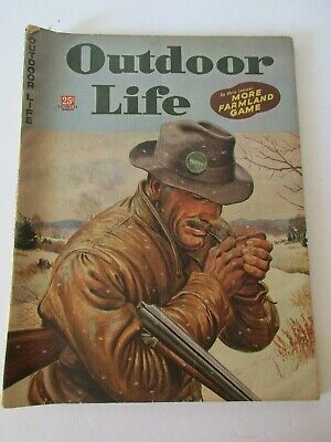 Vintage OUTDOOR LIFE Magazine March 1945 Hunting Fishing Sports