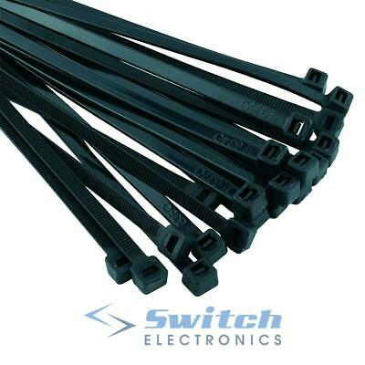 Black Nylon Cable Ties Zip Ties Wraps - Various Sizes