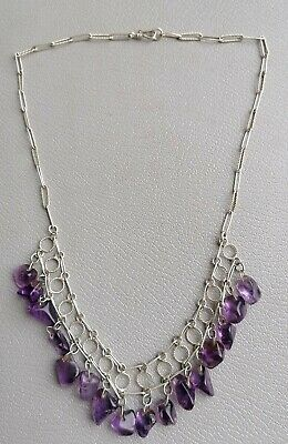Alte collier Kette AMETHYST OMA ERBE NACHLASS VINTAGE