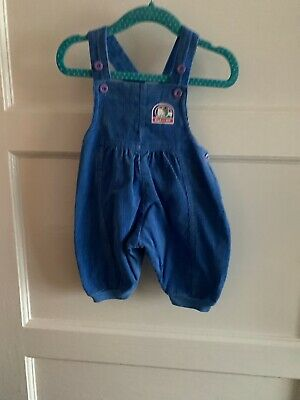 Vintage Mothercare Baby Unisex Needlecord Dungarees 60cm 0-3