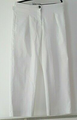 Girls Zara Kids White Trousers - Size 13-14 YEARS - New with Tags