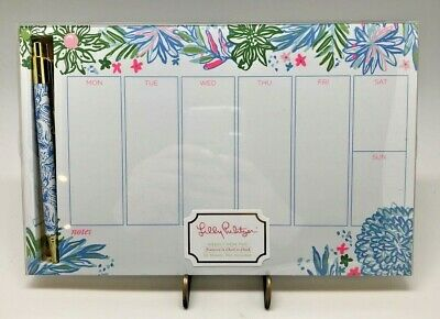 Weekly Desk Pad with Pen in Cheek to Cheek by Lilly Pulitzer