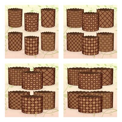 Set of 6 Easter Parchment Baking Paper Molds Paska Kulich Panettone Cake Italian