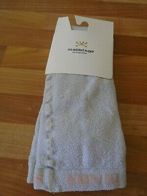 No Added Sugar Silver Sparkle tights BNWT 10/12 RRP £27.50