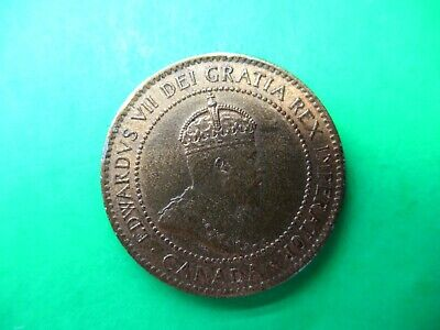 Canada 1 cent 1903 UNC Red & Brown. Rare condition coin