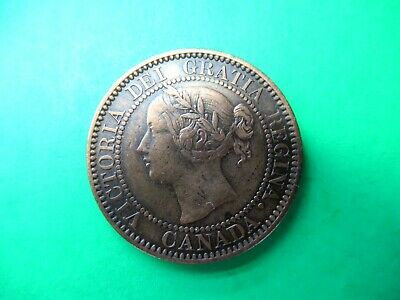 Canada 1 cent 1859 VF rare W9/8. Beauty, Collectable!.