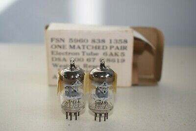 Nos Vintage Matched Pair - Telefunken 6Ak5 - Precision Matched, Ultra Rare Find!