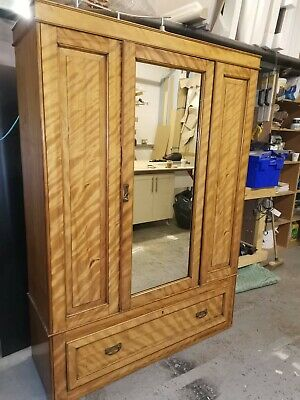 Antique wardrobe with drawers