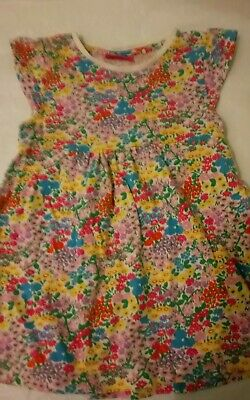 Next Baby Girl Dress 18-24 Months Bright Colourful Floral Spring Summer Vgc